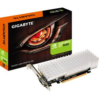 2GB Gigabyte GeForce GT 1030 Silent Low Profile 2G Passiv PCIe 3.0