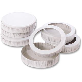 folia Käseschachtel, Durchmesser: 110 mm, weiß