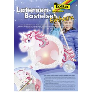 "folia Laternen-Bastelset ""Einhorn"""