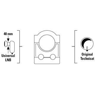 Hama Universal-LNB-Adapter für SAT-Antenne