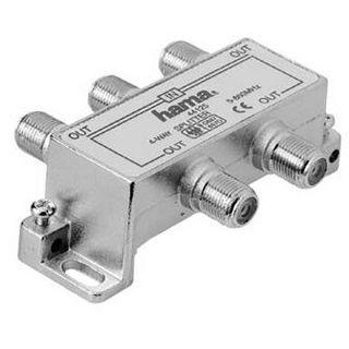 Hama Breitband-Kabelverteiler 4fach