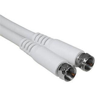(€3,33*/1m) 3.00m Hama Antennenkabel F-Stecker auf F-Stecker Weiß doppelt geschirmt