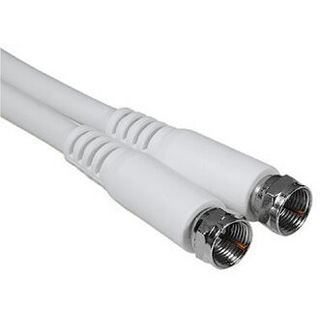 (€1,20*/1m) 5.00m Hama Antenne Anschlusskabel F-Stecker auf F-Stecker Weiß geschirmt