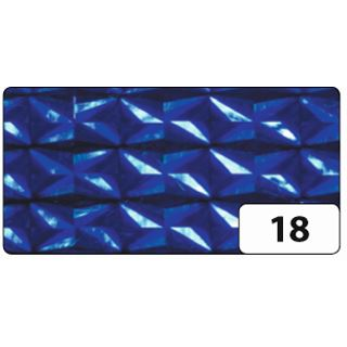 folia Holografie-Klebefolie, 400 mm x 5 m, Diamant blau