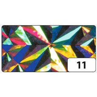 folia Holografie-Klebefolie, 400 mm x 1 m, Magic silber