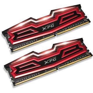 16GB ADATA XPG Dazzle LED rot/schwarz DDR4-2400 DIMM CL16 Dual Kit