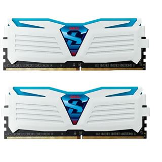 16GB GeIL EVO Super Luce blaue LED weiß DDR4-2400 DIMM Dual Kit