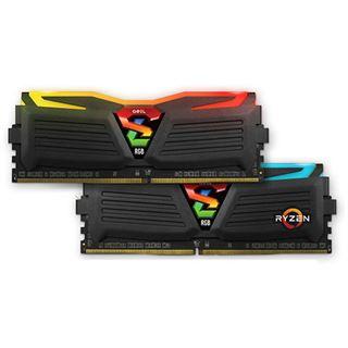 8GB GeIL Ryzen Super Luce RGB LED schwarz DDR4-2400 DIMM CL16 Dual Kit