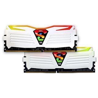 8GB GeIL EVO Super Luce RGB LED weiß DDR4-2400 DIMM CL15 Dual