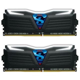 8GB GeIL EVO Super Luce weiße LED schwarz DDR4-2400 DIMM CL16
