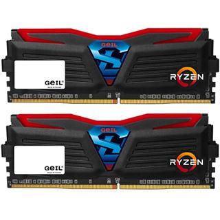 32GB GeIL Ryzen Super Luce rote LED schwarz DDR4-2400 DIMM Dual Kit