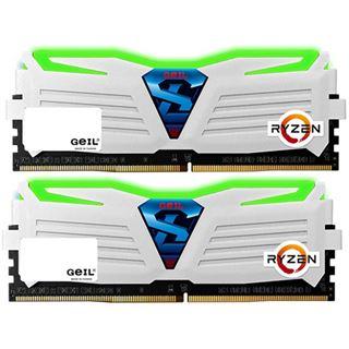 16GB GeIL Ryzen Super Luce grün LED weiß DDR4-2400 DIMM
