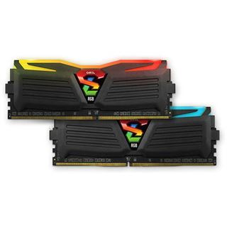 32GB GeIL EVO Super Luce RGB LED schwarz DDR4-2133 DIMM CL15 Dual Kit