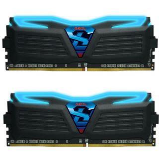 8GB GeIL EVO Super Luce blaue LED schwarz DDR4-2133 DIMM CL15 Dual Kit