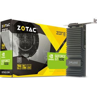 2GB ZOTAC GeForce GT 1030 Zone Edition Passiv PCIe 3.0 x16 (Retail)