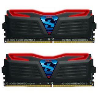 16GB GeIL Super Luce schwarz LED rot DDR4-2400 DIMM CL17 Dual Kit