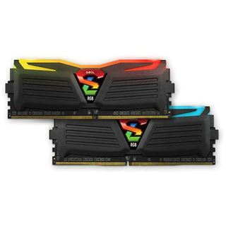 16GB GeIL Super Luce schwarz RGB LED DDR4-2400 DIMM CL17 Dual Kit