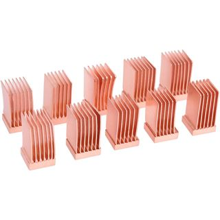 Alphacool GPU RAM Copper Heatsinks 6,5x6,5mm - 10 Stk.