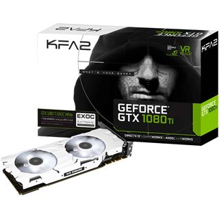 11GB KFA2 GeForce GTX 1080 Ti EXOC White Aktiv PCIe 3.0 x16 (Retail)