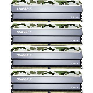 64GB G.Skill SniperX Classic Camouflage DDR4-2400 DIMM CL17 Quad Kit