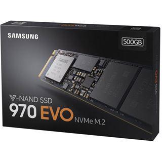 500GB Samsung 970 Evo M.2 2280 NVMe PCIe 3.0 x4 32Gb/s 3D-NAND TLC