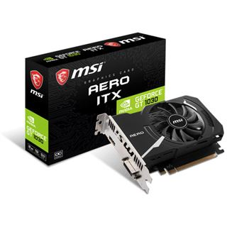 2GB MSI GeForce GT 1030 AERO ITX 2GD4 OC Aktiv PCIe 3.0 x16 (Retail)