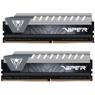 8GB Patriot Viper Elite grau DDR4-2666 DIMM CL16 Dual Kit