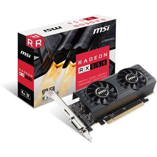 4GB MSI Radeon RX 550 4GT LP OC Aktiv PCIe 3.0 x16 (x8) (Retail)