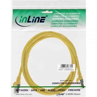 (€0,98*/1m) 5.00m InLine Cat. 5e Patchkabel SF/UTP RJ45 Stecker auf RJ45 Stecker Gelb