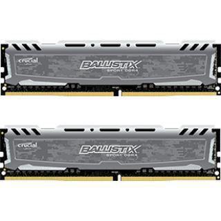 16GB Crucial Ballistix Sport LT V2 Single Rank grau DDR4-2400 DIMM