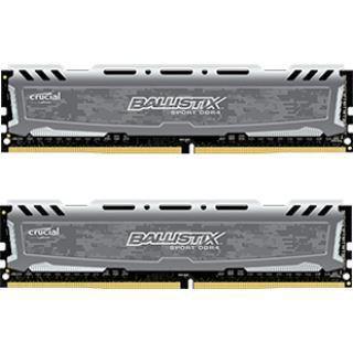 16GB Crucial Ballistix Sport LT V2 Dual Rank grau DDR4-2400 DIMM CL16