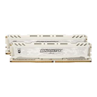 32GB Crucial Ballistix Sport LT V2 Dual Rank weiss DDR4-2400 DIMM