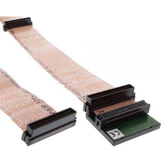 0.75m InLine Flachbandkabel Anschlusskabel 68pol Stecker auf 68pol Stecker Schwarz mit Terminator