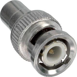 InLine Video Adapter Cinch Buchse auf BNC Stecker Silber