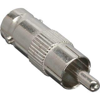 InLine Video Adapter Cinch Stecker auf BNC Buchse Silber