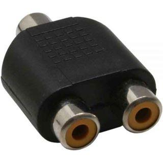 InLine Audio Adapter Cinch Buchse auf 2xCinch Buchse schwarz