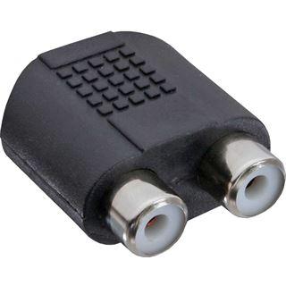 InLine Audio Adapter 3.5mm Klinke Buchse Stereo auf 2xCinch Buchse