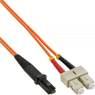 InLine LWL Duplex Adapterkabel MT-RJ Stecker auf 2x SC Stecker Orange