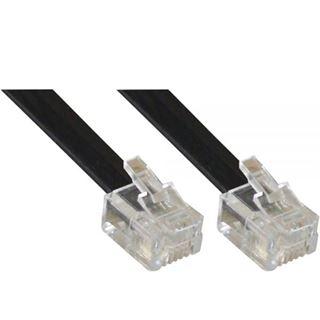 (€0,50*/1m) 10.00m InLine ISDN Anschlusskabel RJ12 Stecker auf