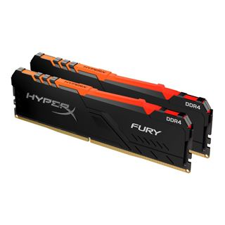 32GB HyperX Fury RGB, DDR4-2400 DIMM, CL15, Dual-Kit (2x16GB)