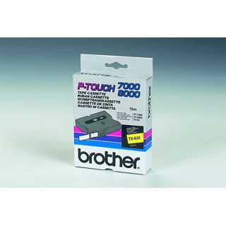 Brother SCHRIFTBAND LAMINIERT SCHWARZ/GELB 12MM 15,4M PT 800 0/PC (TX631)