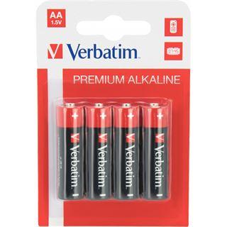 Verbatim LR6 Alkaline AA Mignon Batterie 1.5 V 4er Pack
