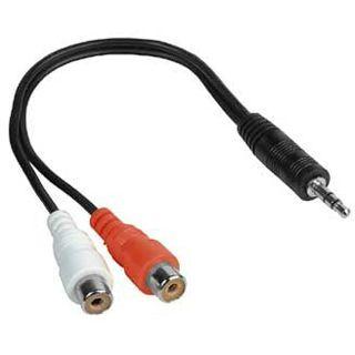 Hama Adapterkabel Klinkenstecker 3,5 mm Stereo - 2x Cinch-Kupplung,