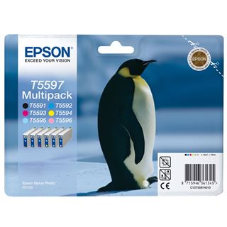 Epson Tinte C13T55974010 schwarz, cyan, magenta, gelb, cyan hell,