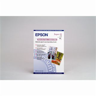 Epson WaterColor Paper – Radiant White Wasserfarbenpapier 32.9x42.3