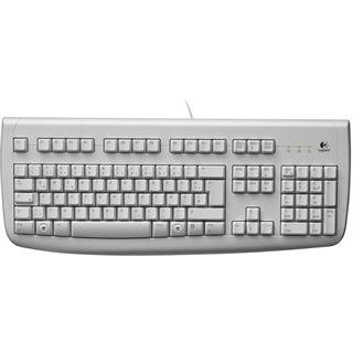 Logitech 250 Deluxe Tastatur Weiß Deutsch USB OEM