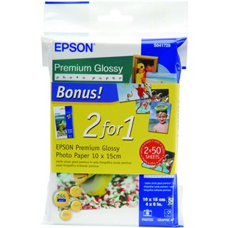 Epson Fotopapier glossy 10x15 2x50