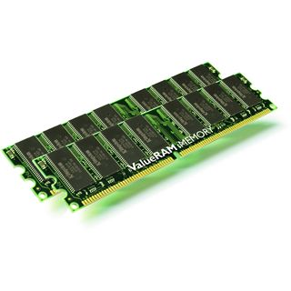 2GB Kingston ValueRAM DDR-400 DIMM CL3 Dual Kit