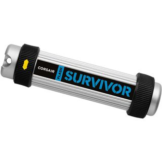 8 GB Corsair Flash Survivor schwarz/silber USB 2.0