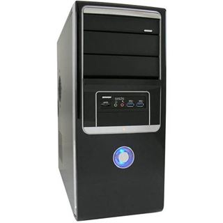 LC-Power PRO-910B Midi Tower 420 Watt Klavierlack schwarz
